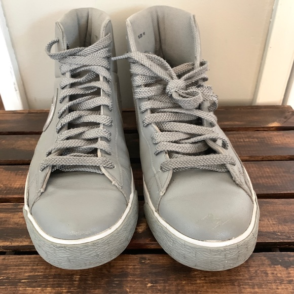 Nike Other - Nike Blazer High Men Grey Shoes 379416-012 size 10